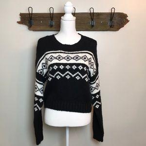 "Fair Isle Sweaters Pacsun ""Me to We"" black white"